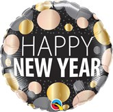 "New Year Metallic Dots 18"" Foil Balloon"