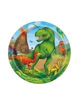 "Dinosaur 7"" Paper Plates 8pk"