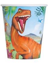 Dinosaur 9oz Paper Cups 8pk