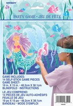 Mermaid Pin The Seahorse Party Game For 14