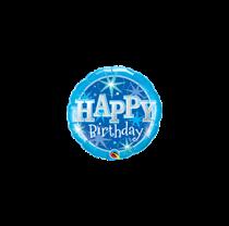 """Mini Blue Birthday Sparkle 9"""" Foil Balloon"""