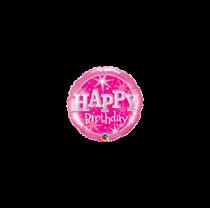 """Mini Pink Sparkle Birthday 9"""" Foil Balloon"""