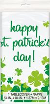 St Patrick's Shamrock Plastic Tablecover