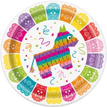 "Festive Fiesta 9"" Paper Plates 12pk"