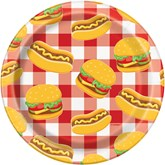"Burger BBQ 7"" Paper Plates 8pk"