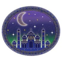 Eid Oval 30cm Paper Platters 8pk