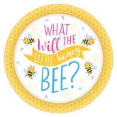 Gender Reveal Bee 26cm Plates 8pk