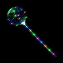"""Magical 12"""" Light Up LED Balloon With Stick"""