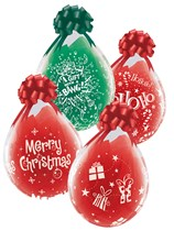 """Merry Christmas Clear 18"""" Stuffing Latex Balloons 25pk"""