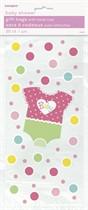 Baby Girl Dotty Cello Bags 20pk