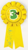 3rd Birthday Ribbon Badge