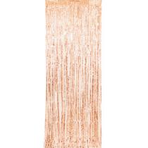 Rose Gold Fringe Door Curtain 3ft x 8ft