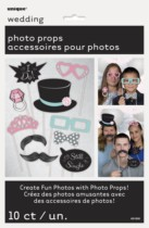 Wedding Photo Booth Props 10pk