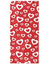 Valentine's Day Red Hearts Cello Bags 20pk