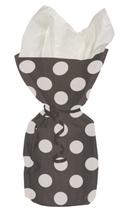 20 Decorative Dots Midnight Black Cello Bags