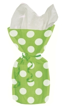 20 Decorative Dots Lime Green Cello Bags