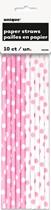 Lovely Light Pink Dots Straws 10pk
