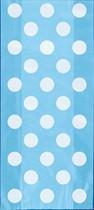 Light Pastel Blue Dots Cello Bags 20pk