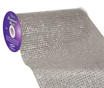Eleganza Silver Diamond Mesh 24.5cm x 4.5m