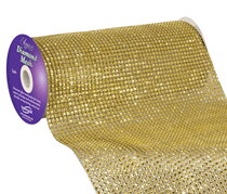 Eleganza Gold Diamond Mesh 24.5cm x 4.5m