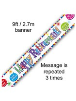 Happy Retirement Foil Banner 9ft