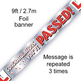 Congratulations You've Passed 9ft Foil Banner
