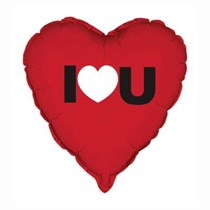 Valentines Day I Love You 18 Inch Foil Balloon Heart