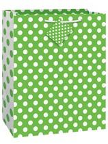 Lime Green Dots Large Gift Bag