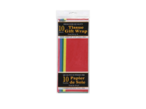 Assorted Colour Tissue Paper Sheets 10pk