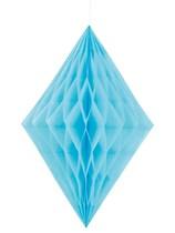 Powder Light Blue Diamond Tissue Hanging Decoration