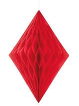 Red Diamond Tissue Hanging Decoration