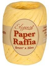 Pale Yellow Paper Raffia Balloon Ribbon 30m