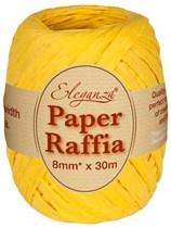 Yellow Paper Raffia Balloon Ribbon 30m