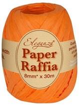 Orange Paper Raffia Balloon Ribbon 30m