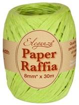 Lime Green Paper Raffia Balloon Ribbon 30m