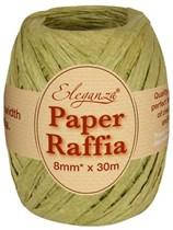 Sage Green Paper Raffia Balloon Ribbon 30m