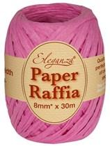 Fuchsia Paper Raffia Balloon Ribbon 30m