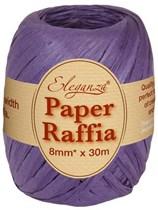 Purple Paper Raffia Balloon Ribbon 30m