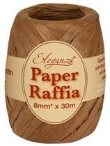 Chocolate Paper Raffia Balloon Ribbon 30m