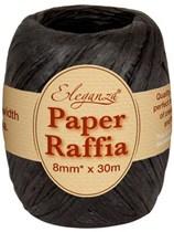Black Paper Raffia Balloon Ribbon 30m