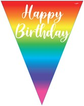 Rainbow Ombre Happy Birthday Flag Banner Bunting