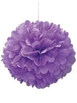 Pretty Purple Puffball Hanging Decoration