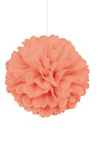 Coral Puffball Hanging Decoration