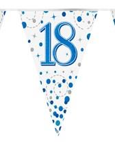 Sparkling Fizz Blue & White 18th Birthday Flag Bunting