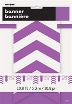 Purple Dots & Stripes Flag Banner