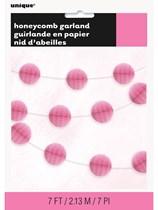 Hot Pink Mini Honeycomb Garland 7ft
