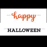 Happy Halloween Letter Banner 2pce