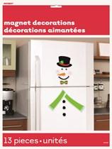 Christmas Snowman Magnet Decorations 13pc