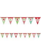 Merry Christmas Flag Banner 14ft