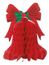 Christmas Bell Hanging Honeycomb Decoration
